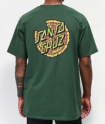 6fbabef4f Santa Cruz x TMNT Pizza Dot Forest Green T-Shirt