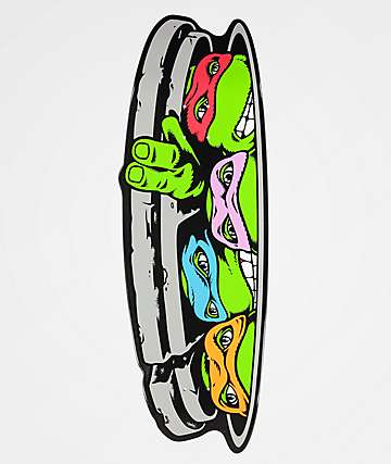 "Santa Cruz x TMNT Turtle Funboard 10.31"" Skateboard Deck"