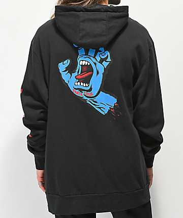 Santa Cruz x ThirtyTwo Stamped Black Hoodie