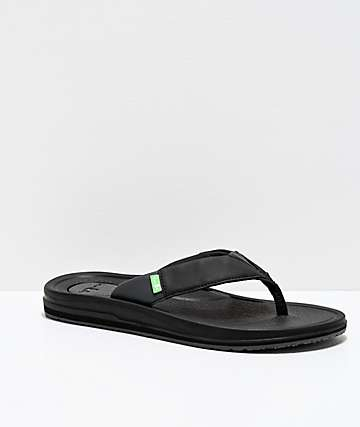 Sanuk Beer Cozy 3 Black Sandals