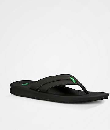 Sanuk Brumeister Black Sandals