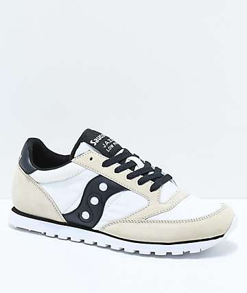 Saucony Jazz Low Pro White & Black Shoes