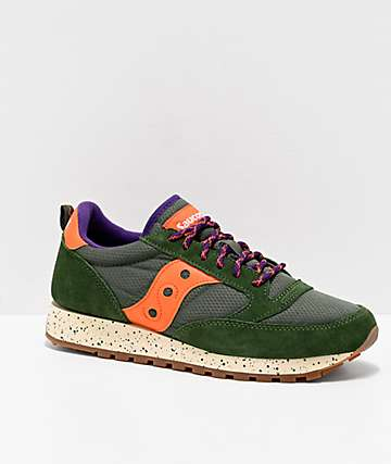 Saucony Jazz Original Climbing Green & Orange Shoes