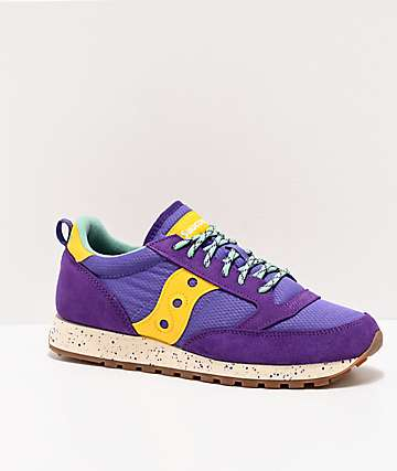 Saucony Jazz Original Climbing Purple & Yellow Shoes
