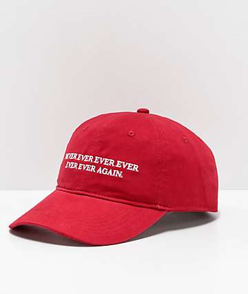 Sausage Never Ever Ever Red Strapback Hat