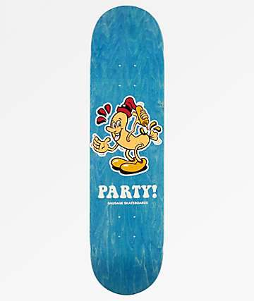 "Sausage Party 8.0"" Blue Skateboard Deck"