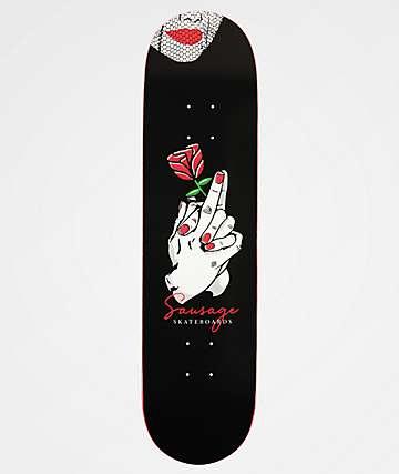 """Sausage Praying Finger Rose 8.0"""" Skateboard Deck"""