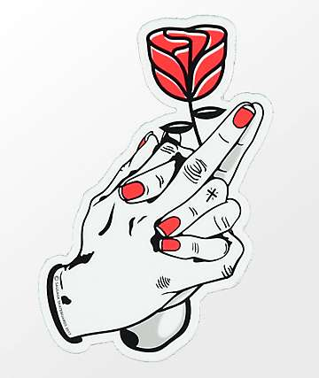 Sausage Praying Rose Sticker