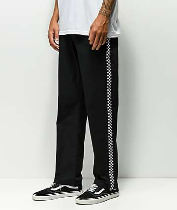 Scum Black & White Checkered Pants