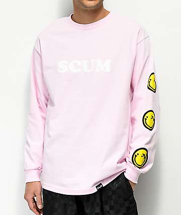 Scum Get Over It Pink Long Sleeve T-Shirt