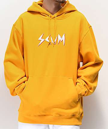 Scum Logo Embroidered Gold Hoodie