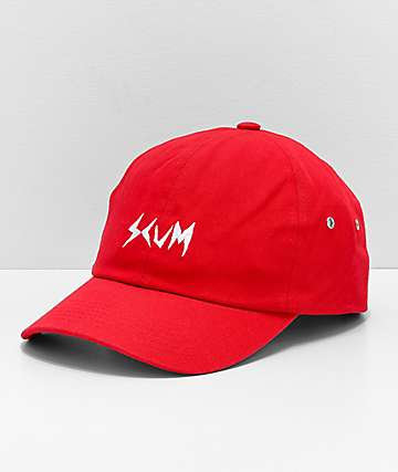 Scum Logo Red Strapback Hat
