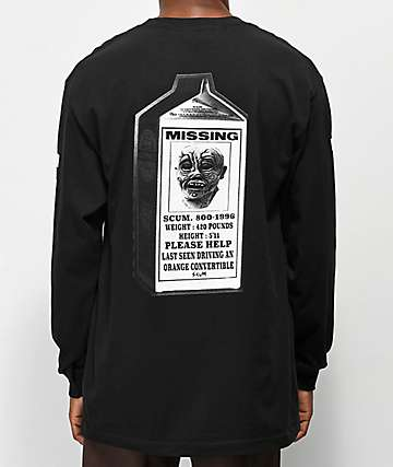 Scum Milk Ratboy Black Long Sleeve T-Shirt