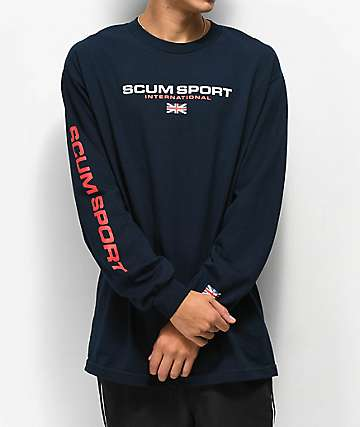 Scum Scum Sport Navy Long Sleeve T-Shirt