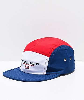 Scum Sport International Navy & Red Strapback Hat
