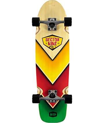 """Sector 9 Bamboozler 31.5"""" tabla de skate cruiser completo"""