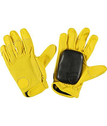 Sector 9 Driver Yellow Leather Slide Gloves