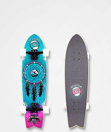 "Sector 9 Feather Tia Pro 30.5"" Cruiser Skateboard Complete"