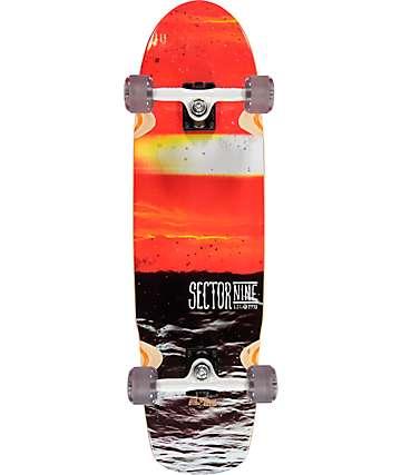 """Sector 9 Fission 33"""" tabla de skate cruiser completo"""