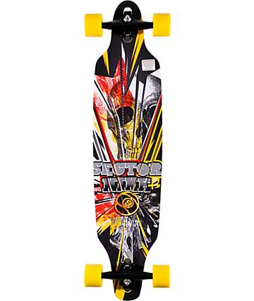 "Sector 9 Fractured 40""  Drop Through Longboard Complete"