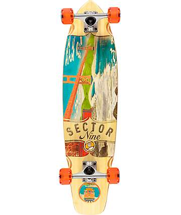 "Sector 9 Ft. Point 34"" Bamboo Longboard Complete"