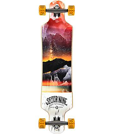 "Sector 9 Meridian Red 40"" Drop Through Longboard Complete"