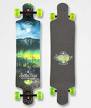 "Sector 9 Midnight Fault Line 39"" Drop Down longboard completo"