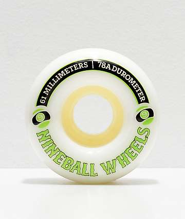 Sector 9 Nineballs 61mm 78a White Longboard Wheels