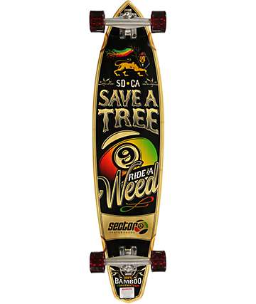 "Sector 9 R.A.W. 38.5""  Bambo Longboard Complete"
