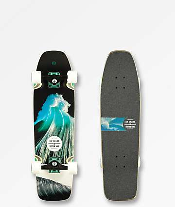 """Sector 9 Ray Collins 95 30.5"""" cruiser completo"""