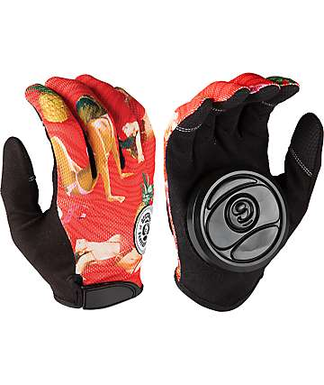 Sector 9 Rush guantes rojos para longboard