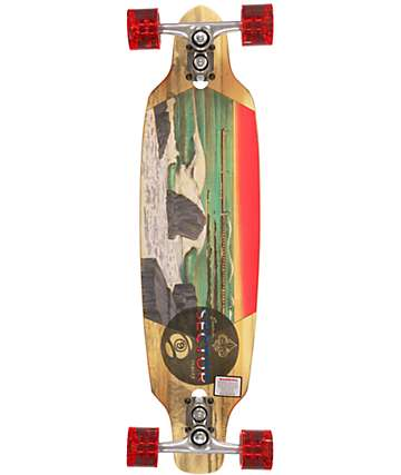 "Sector 9 Shoots 33""  Drop Through Bamboo Longboard Complete"
