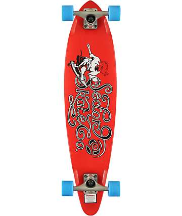 "Sector 9 The Express Red 34.5""  Longboard Complete"