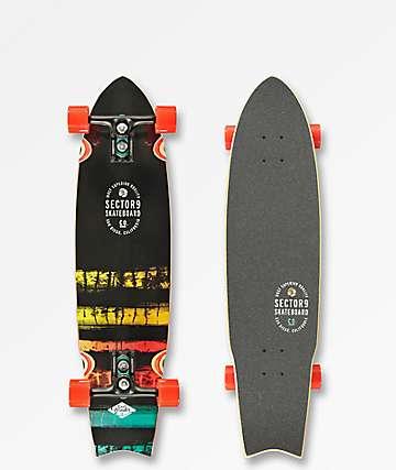 "Sector 9 Unagi Rainbow 34"" Cruiser Complete Skateboard"