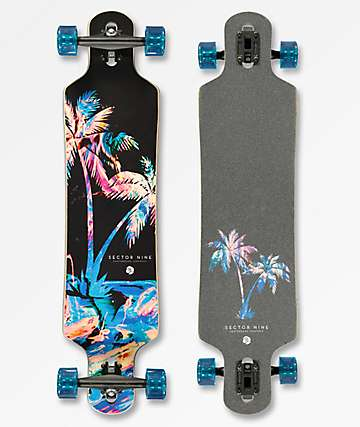 "Sector 9 Weekend Meridian 40"" Blue Drop Through Longboard Complete"