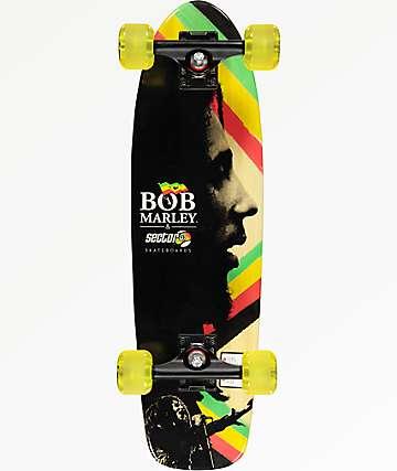 """Sector 9 x Bob Marley Natty Dread 27"""" cruiser completo de skate"""