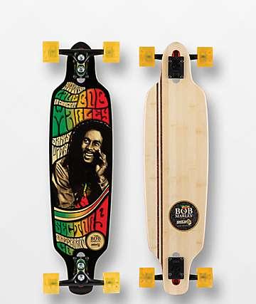"Sector 9 x Bob Marley Rastaman 34"" Drop Through Longboard Complete"