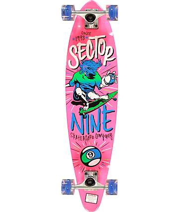 "Sector 9 x Sunset The Swift Pink 34.5""  Longboard Complete"