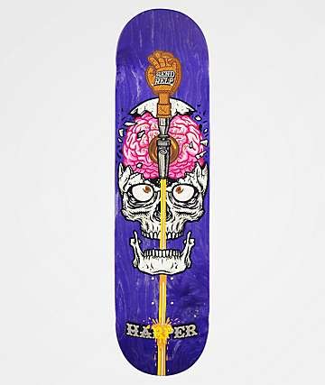 "Send Help Brain Drain 8.0"" Skateboard Deck"