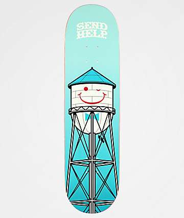 "Send Help Smiley 8.25"" Skateboard Deck"