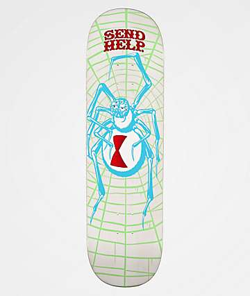 "Send Help White Widow 8.5"" Skateboard Deck"