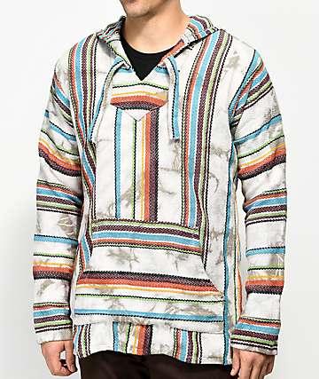 Senor Lopez Sarape Chimichanga Palmita White Tie Dye Poncho