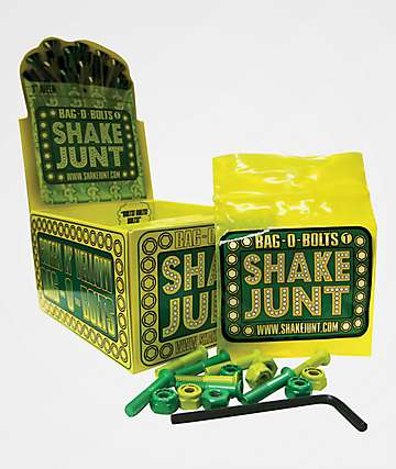 Shake Junt Yellow & Green Skateboard Hardware