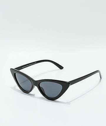 Sheena Black Cat Eye Sunglasses