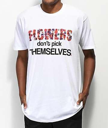 Sheesh World Flowers White T-Shirt