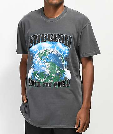 Sheesh World Shock The World Grey T-Shirt