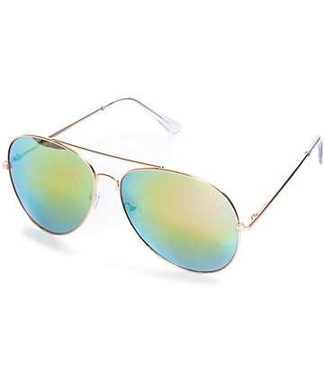 Sherrick All Rose Aviator Sunglasses
