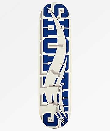 """Shorty's Skate Block 8.0"""" tabla de skate en gris y azul"""