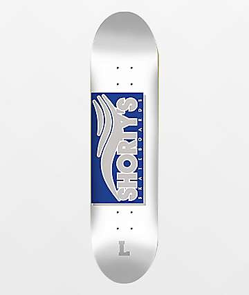 "Shorty's Skate Tab 8.25"" Blue & Silver Skateboard Deck"