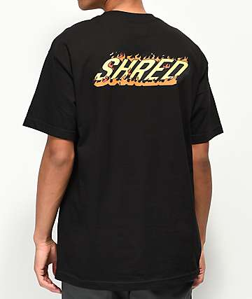 Shred Burning Sensation Black T-Shirt